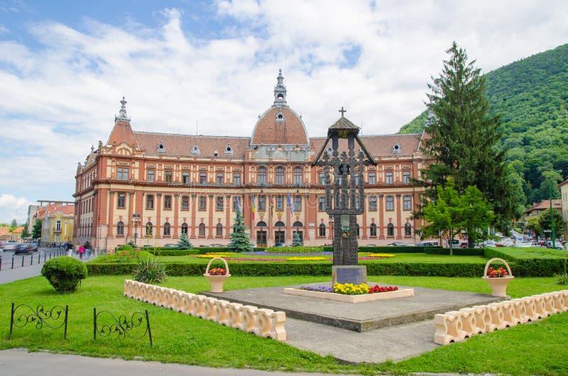 Здание совета округа Brasov стоковое фото