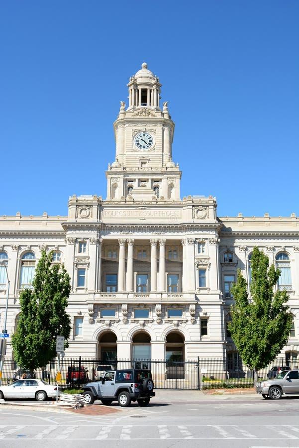 Здание суда графства Айова Pold стоковые изображения