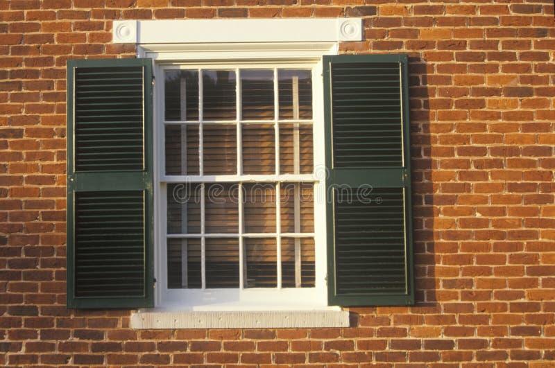 Здание суда, известное как дом Mclean на Appomattox, Вирджинии, месте сдачи и конце гражданской войны стоковое изображение rf