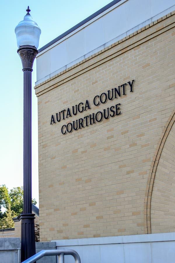 Здание суда Autauga Co - вертикаль стоковое фото