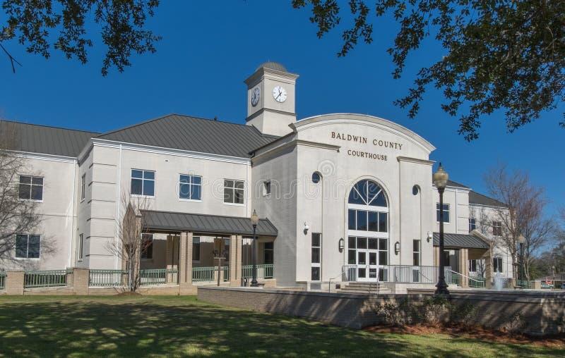 Здание суда Baldwin County в заливе Minette Алабаме стоковое фото