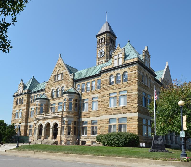 Здание суда Coles County стоковые изображения rf