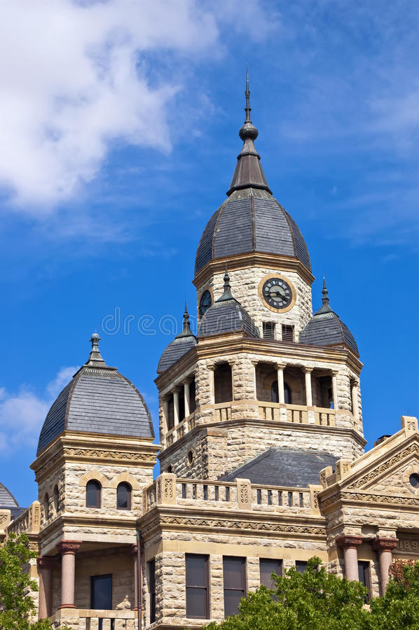 Здание суда Denton County в Denton, Техасе стоковое изображение