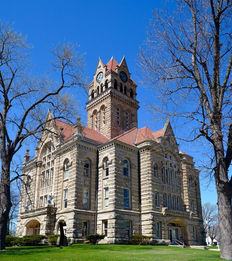Здание суда Starke County стоковая фотография rf