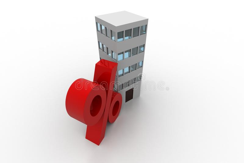 Здание с знаком процента бесплатная иллюстрация
