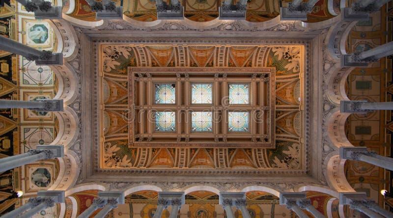 Здание Томас Джефферсон Библиотеки Конгрессаа стоковая фотография rf