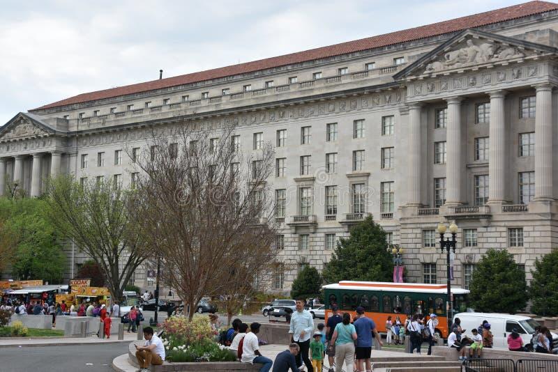 Здание Уильям Джефферсон Клинтона федеральное в DC Вашингтона стоковые изображения rf