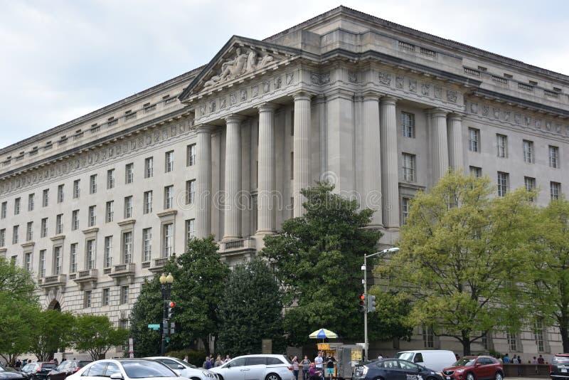 Здание Уильям Джефферсон Клинтона федеральное в DC Вашингтона стоковые фотографии rf