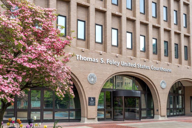 Здание федерального суда в Spokane, Вашингтоне стоковая фотография