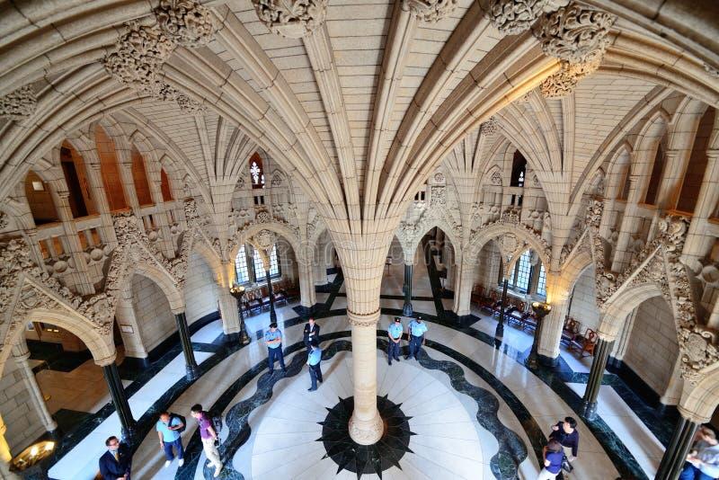 Здание холма парламента Канады стоковые фото
