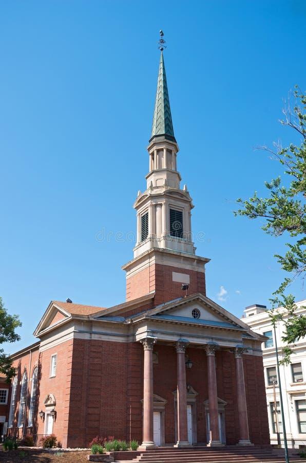 Здание церкви ориентир ориентира в Денвере стоковая фотография