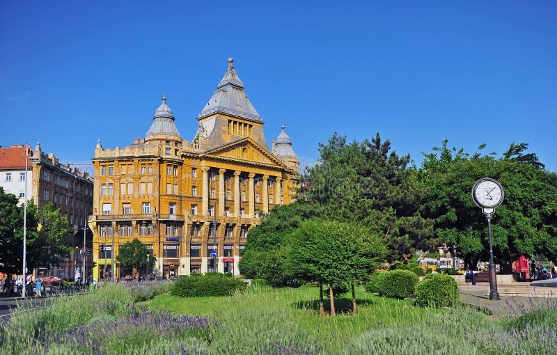 Здание Az Anker в центре Будапешта стоковая фотография