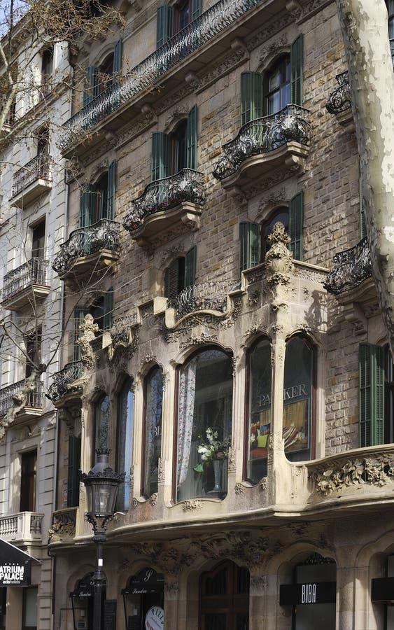 здание barcelona богато украшенный Испания стоковое фото