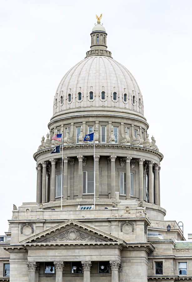 Download Здание Capitan с флагами и орлом Стоковое Изображение - изображение насчитывающей строя, правительство: 40587977