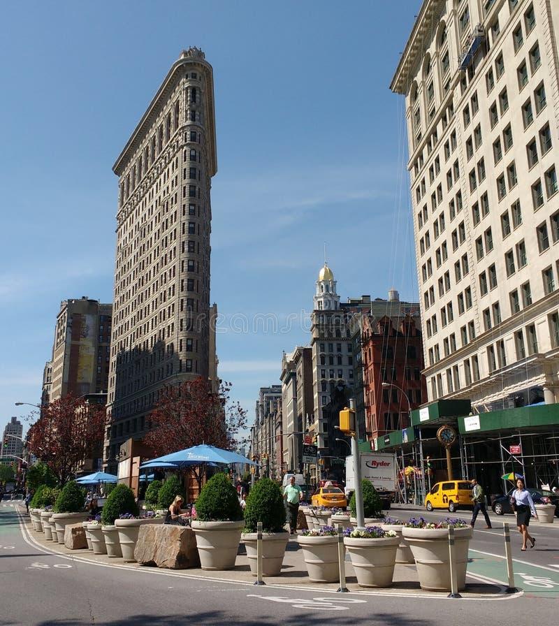 Здание Flatiron в Нью-Йорке, США стоковое изображение rf