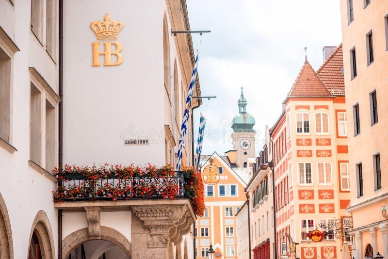 Здание Hofbrauhaus в Мюнхене стоковое фото rf