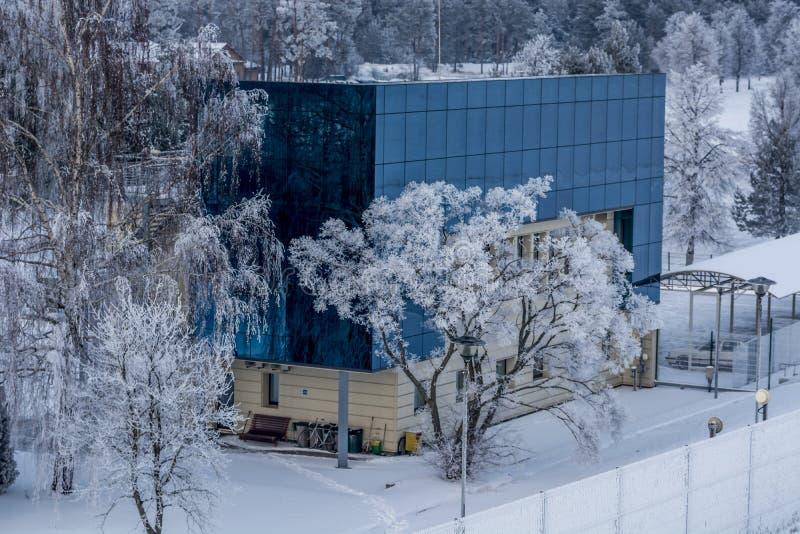 Здание HS станции Каунаса Hidro стоковые изображения
