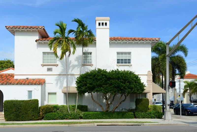 Здание JP Моргана, Palm Beach, Флорида стоковая фотография
