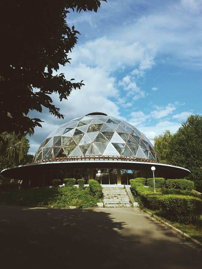 Здание UFO стоковая фотография rf