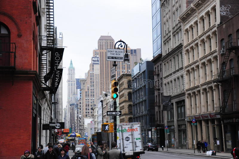 Здания архитектуры Нью-Йорка исторические стоковое фото rf