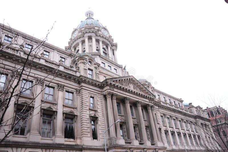 Здания архитектуры Нью-Йорка исторические стоковое изображение