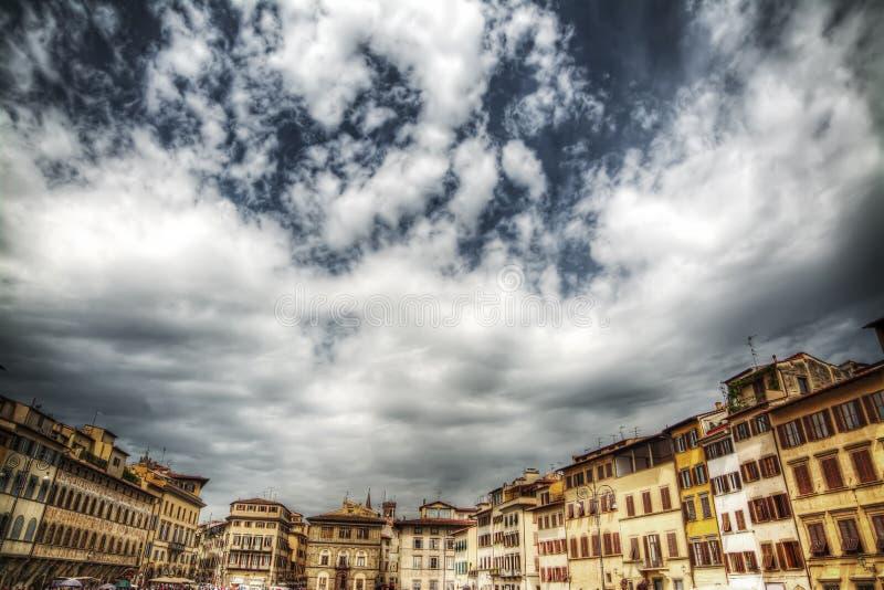 Здания вокруг квадрата Santa Croce в Флоренсе стоковая фотография
