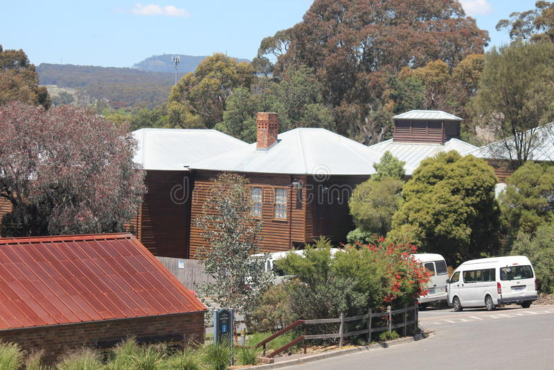 Здания властительского холма Ballarat Виктории стоковые фото