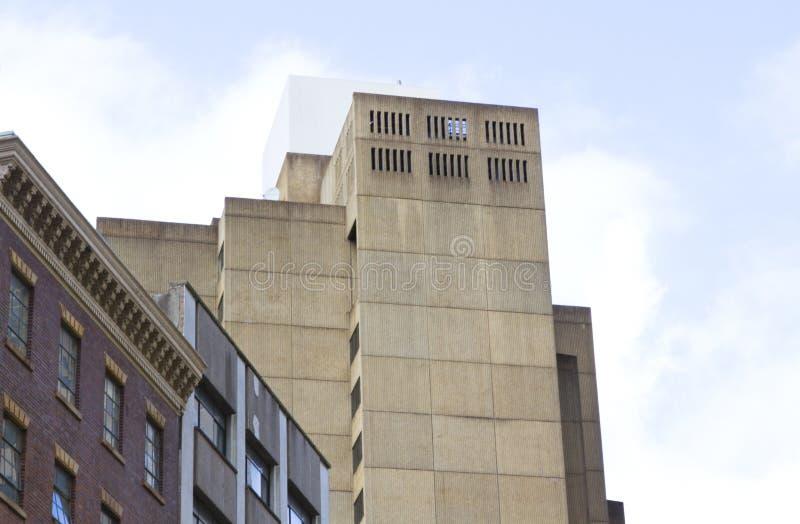 Здания в городе стоковая фотография rf