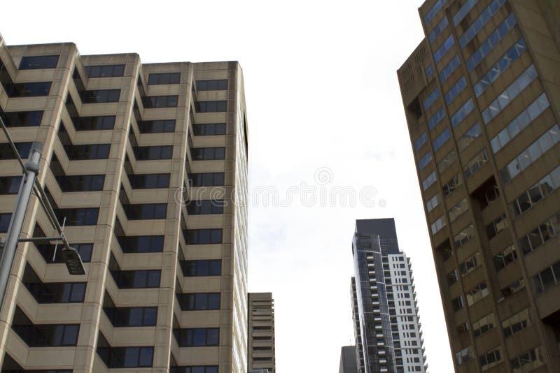 Здания в городе стоковое изображение rf