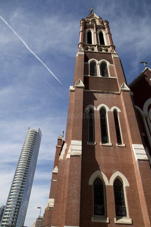 Здания в городском Далласе стоковое изображение rf