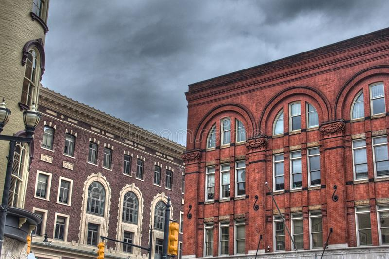 Здания в Гранд-Рапидсе стоковая фотография rf