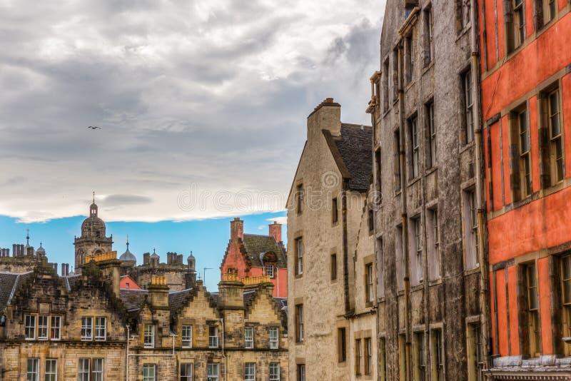 Здания в старом городке Эдинбурга стоковое изображение rf