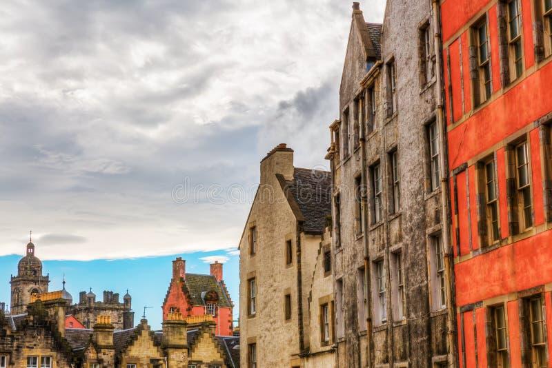 Здания в старом городке Эдинбурга стоковые изображения