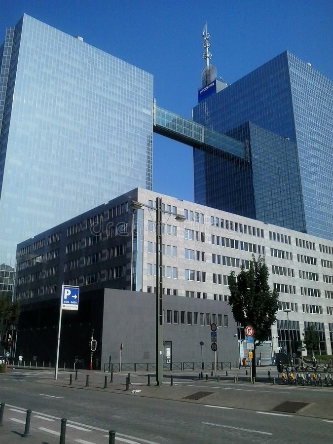 Здания в Brussel стоковое изображение rf