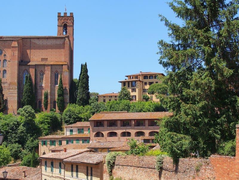 Здания в cиенне, Италии стоковые изображения