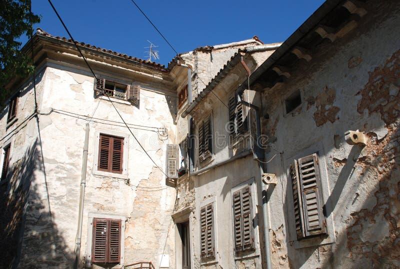 Здания в Pazin стоковое изображение