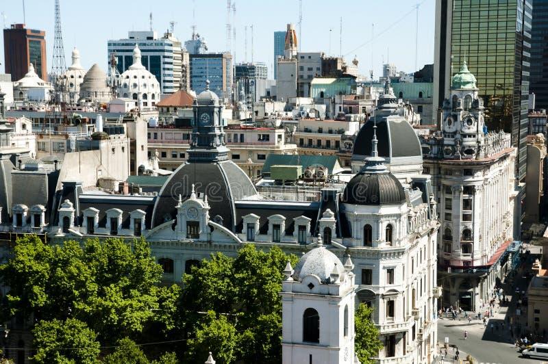 Здания города - Буэнос-Айрес - Аргентина стоковое фото rf