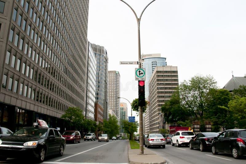 Здания города - Монреаль - Канада стоковое изображение