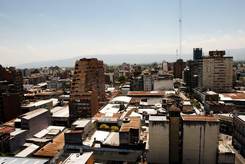 Здания города - Tucuman - Аргентина стоковые фотографии rf