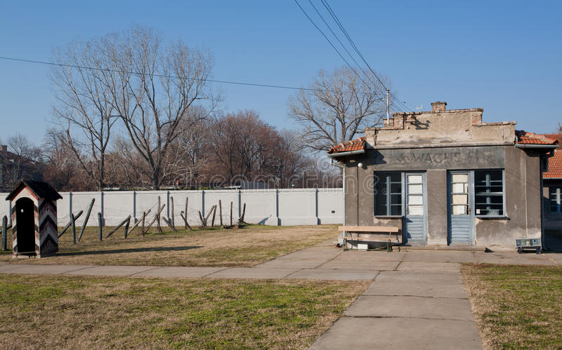 Здания концентрационного лагеря стоковое изображение