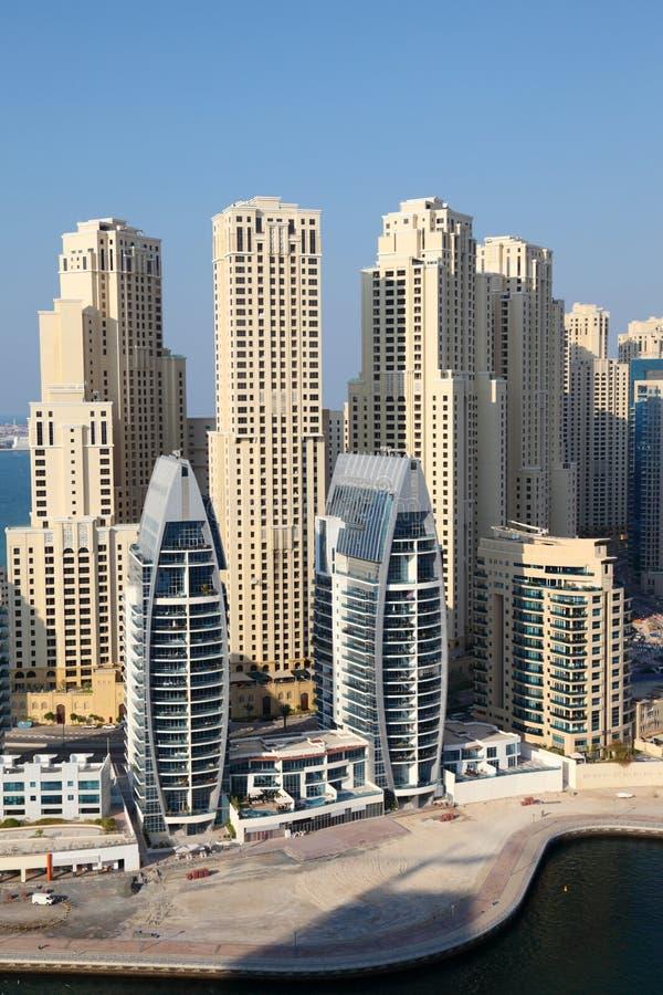 Здания Марины Дубай стоковые фотографии rf