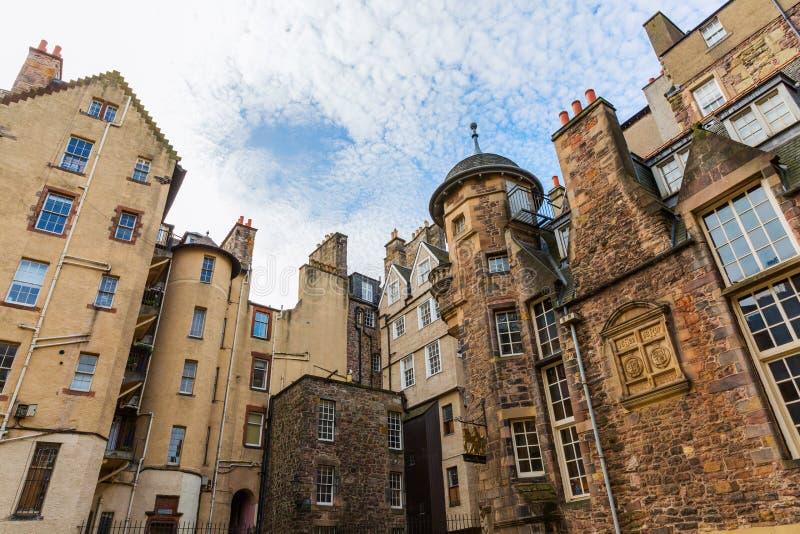 Здания на даме Лестнице Закрывать в Эдинбурге стоковые изображения rf
