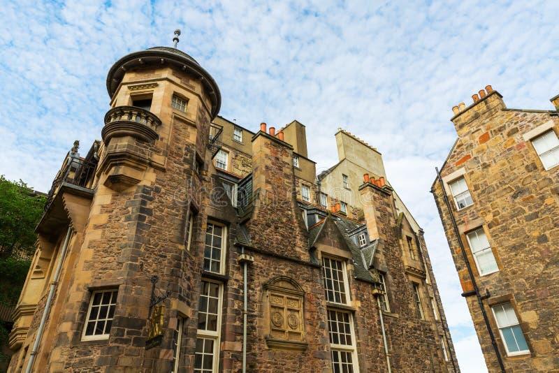 Здания на даме Лестнице Закрывать в Эдинбурге стоковое изображение