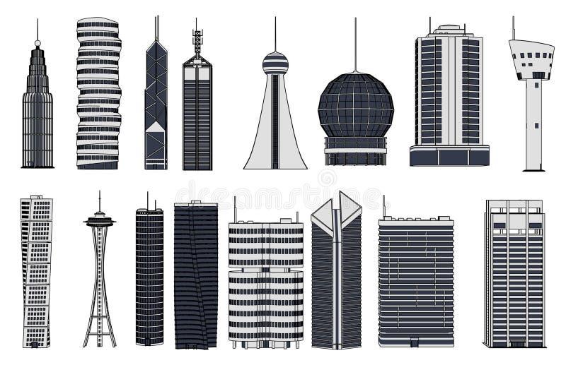 Здания небоскреба иллюстрация штока
