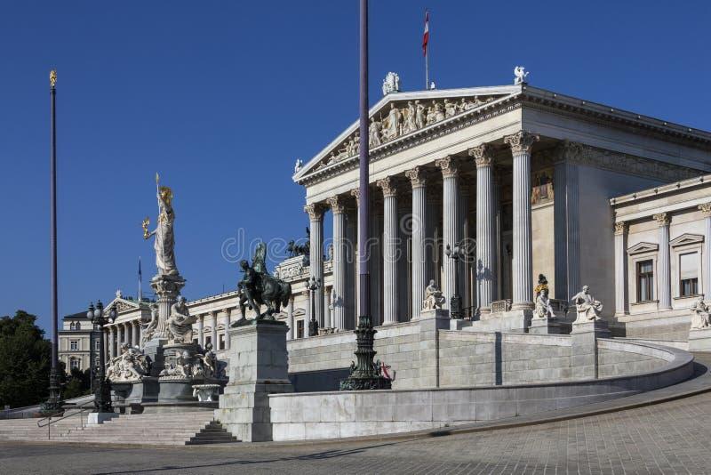 Здания парламента - вена - Австрия стоковая фотография rf