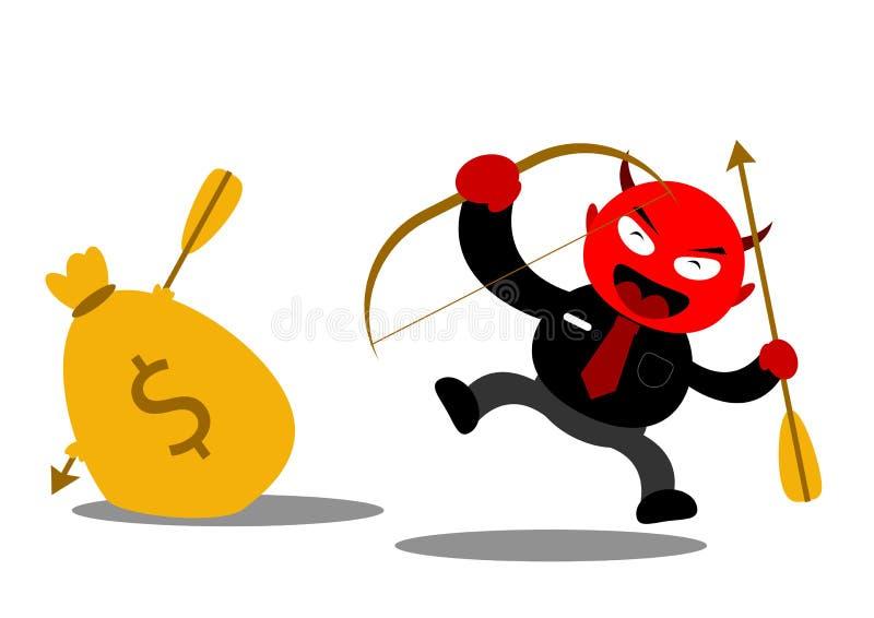 Злий бизнесмен иллюстрация штока