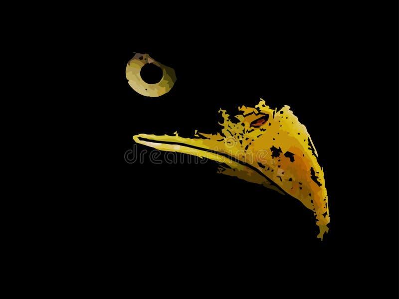 Злий хищник орел американский символ иллюстрация вектора