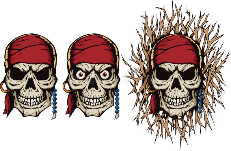 Злий череп пирата бесплатная иллюстрация