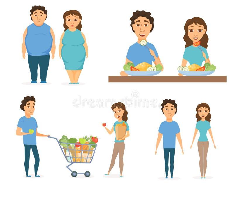 Здоровая еда Infographics иллюстрация штока
