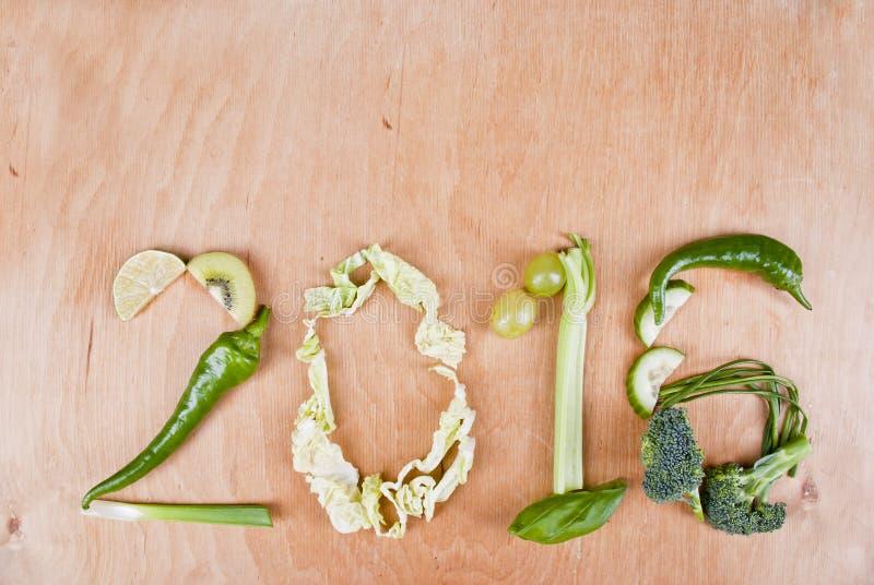 Здоровая концепция еды 2016 стоковые изображения